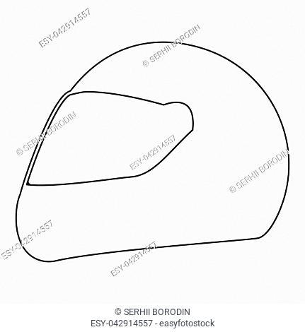 Racing helmet it is the black color icon