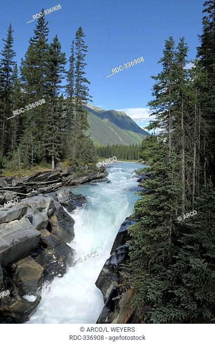 Numa Falls, Vermillion River, Kootenay national park, British Columbia, Canada