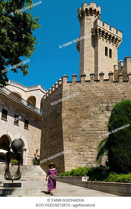The Almudaina Palace,Palma, Island Of Majorca, Balearic, Spain