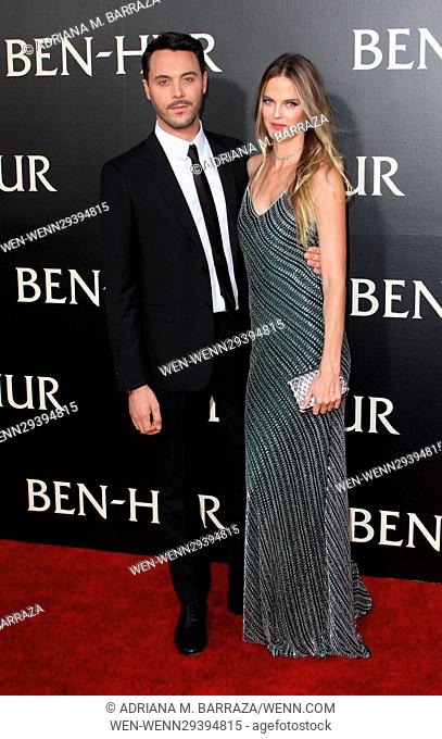 Los Angeles premiere of 'Ben-Hur' held at the TCL Chinese Theater IMAX - Arrivals Featuring: Jack Huston, wife Shannan Click Where: Los Angeles, California