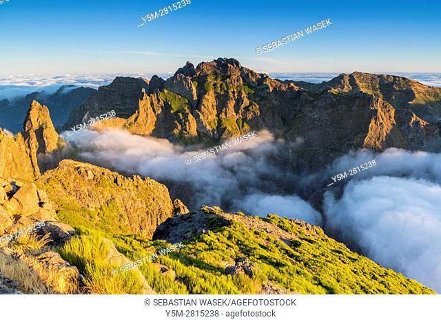 Sunrise seen from Pico do Arieiro, Madeira, Portugal