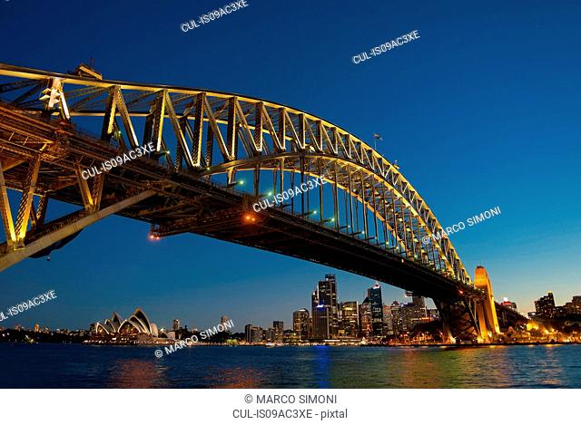 Sydney Harbor Bridge and waterfront, Sydney, Australia