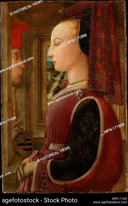 Portrait of a Woman with a Man at a Casement. Artist: Fra Filippo Lippi (Italian, Florence ca. 1406-1469 Spoleto); Date: ca
