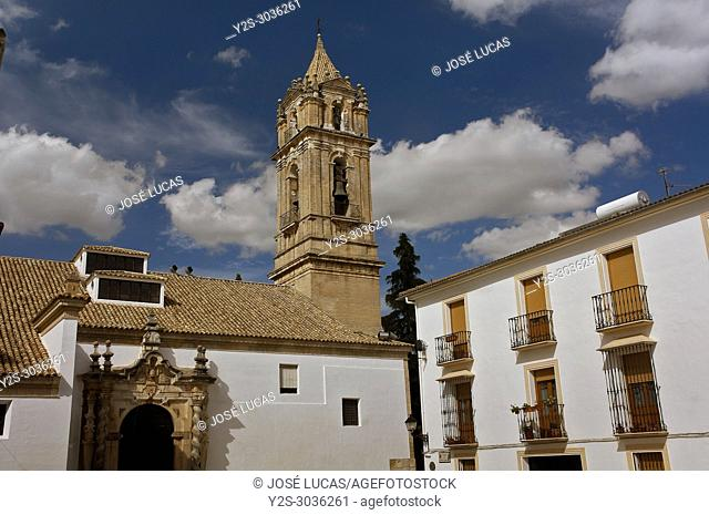 Church of the Asuncion and Angeles - 13th century (restored in the 17th century). Cabra. Cordoba province. Region of Andalusia. Spain. Europe