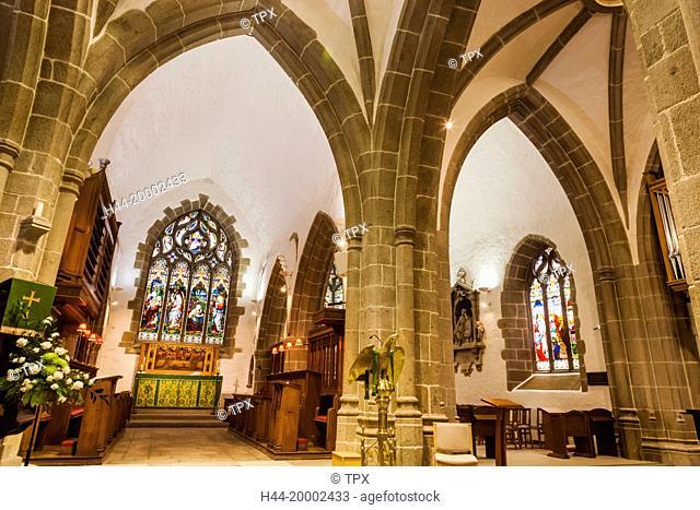 United Kingdom, Channel Islands, Jersey, St. Helier, St. Helier Parish Church aka Town Church