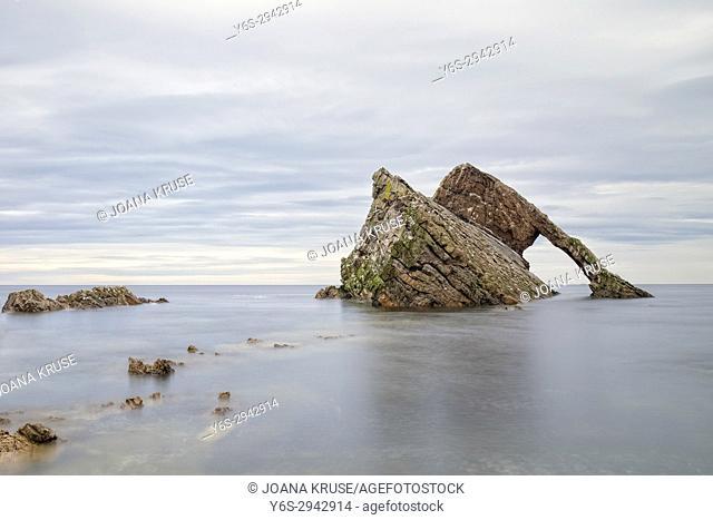 Bow Fiddle Rock, Portknockie, Moray, Scotland, United Kingdom