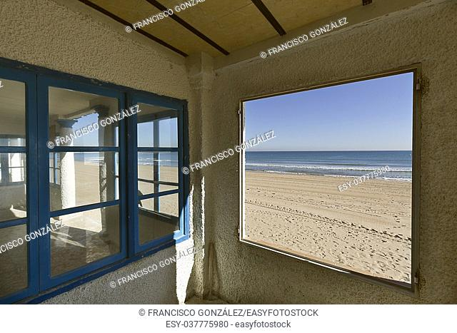 Beach of the Marine in municipal term of Elche, province of Alicante in Spain