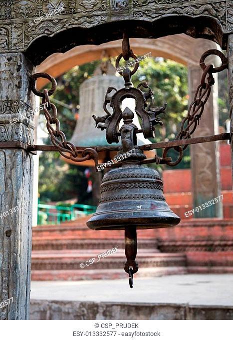 bell in Swayambhunath stupa - Kathmandu - Nepal
