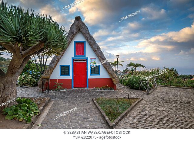 Traditional Madeirense home at Santana, Madeira, Portugal