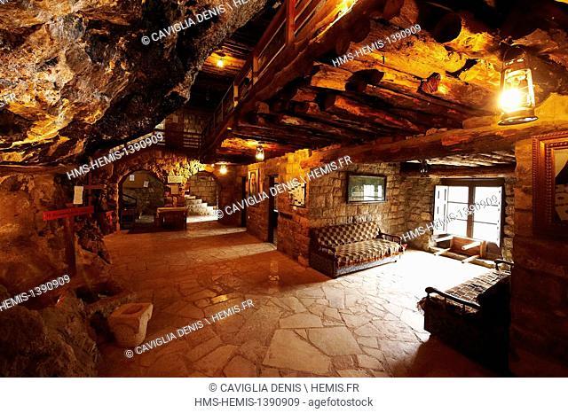 Lebanon, Kadisha Valley, Jieh Chouf, Monastery of Our Lady of Qannoubine, interior