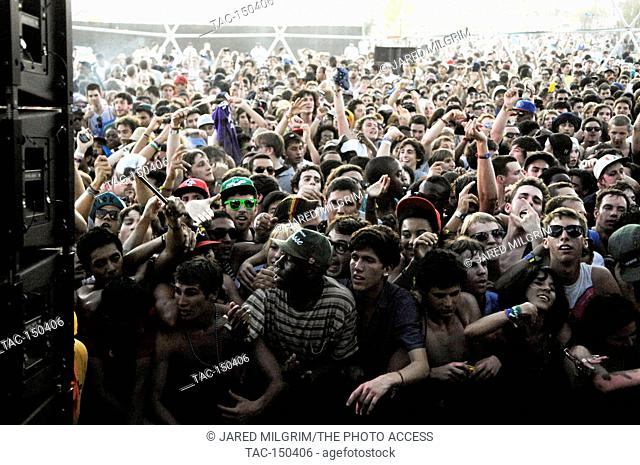 Tyler the Creator of Wolf Gang (aka Odd Future) in the crowd (c) at the 2011 Coachella Music Festival on March 16, 2011 in Indio