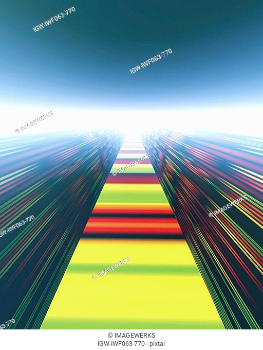Abstract multi colored patterns digitally generated
