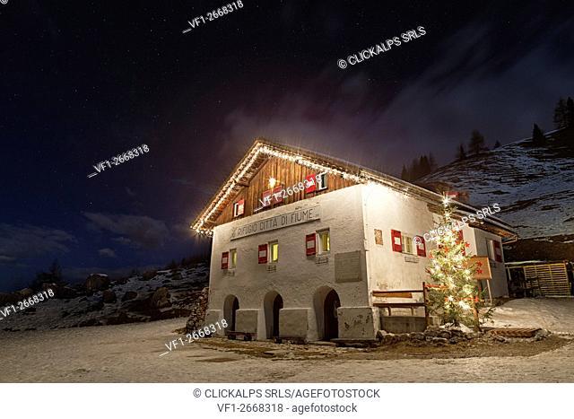 Citta di Fiume Refuge, Dolomites, Borca di Cadore, Belluno, Italy