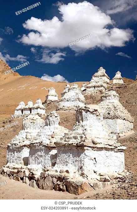 Stupas around Leh - Ladakh - India