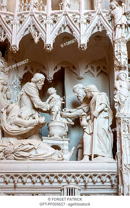 THE CIRCUMCISION OF THE INFANT JESUS, CHOIR TOWER, NOTRE-DAME CATHEDRAL, CHARTRES (28), FRANCE