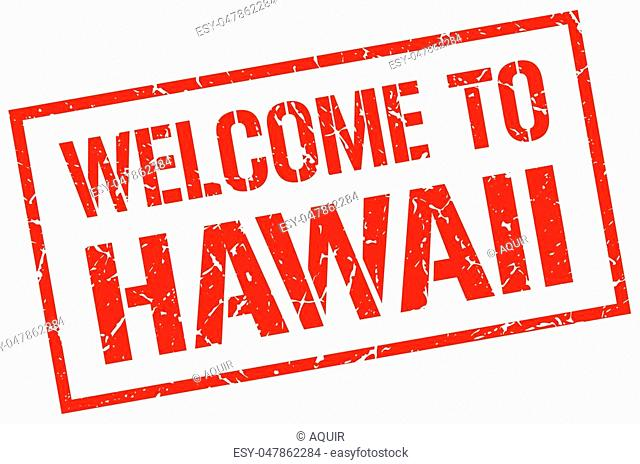 welcome to Hawaii stamp