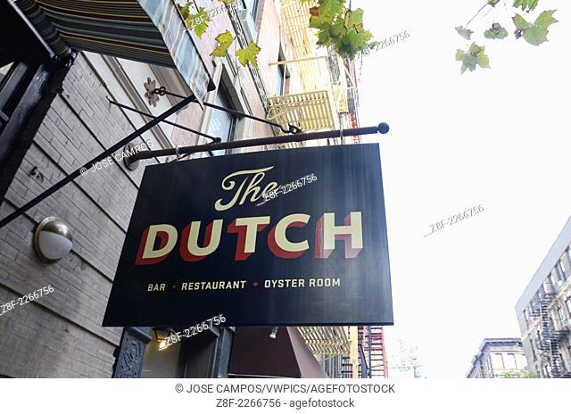 The Dutch Restaurant. Soho, NYC