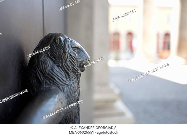 Lion as a handle, Bavarian State Opera in Munich, Germany