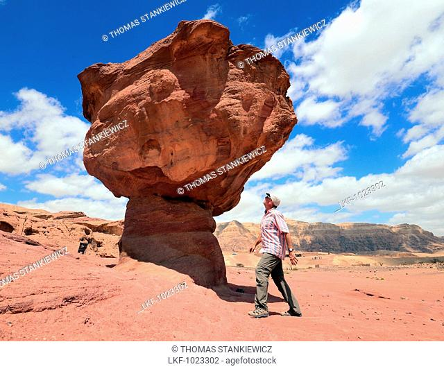 Rock formations in Timna Park near Eilat at Red Sea, Akaba bay, South-Israel, Israel