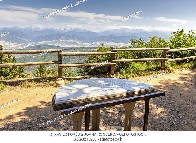 View of La Jacetania from San Juan de la Peña Monastery viewpoint, Huesca, Spain