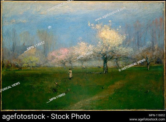 Spring Blossoms, Montclair, New Jersey. Artist: George Inness (American, Newburgh, New York 1825-1894 Bridge of Allan, Scotland); Date: ca