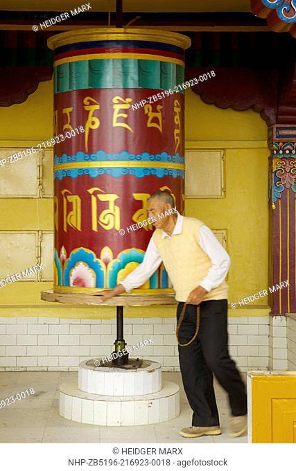 Prayer Wheels around the Dalai Lama's temple complex in McLeod Ganj