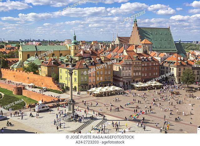 Poland, Warzaw City, Old Town, Castle Square