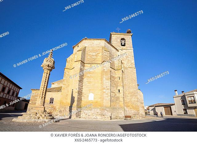 Church of Asuncion and Rollo Jurisdiccional monument, Boadilla del Camino, Way of St. James, Palencia, Spain