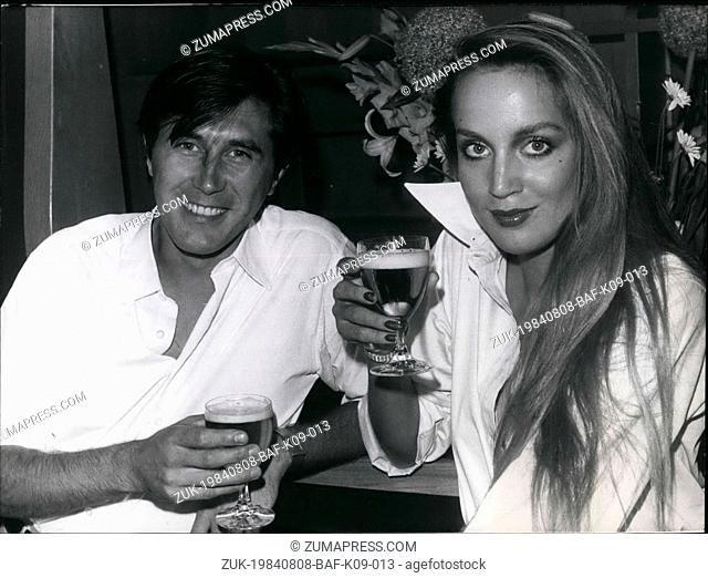 Aug. 08, 1984 - Bryan Ferry, Leader of The Rock Group 'Roxy Music' On Visit In Munich: In order to present the new Roxy - LP 'Viva Roxy Music and his solo...