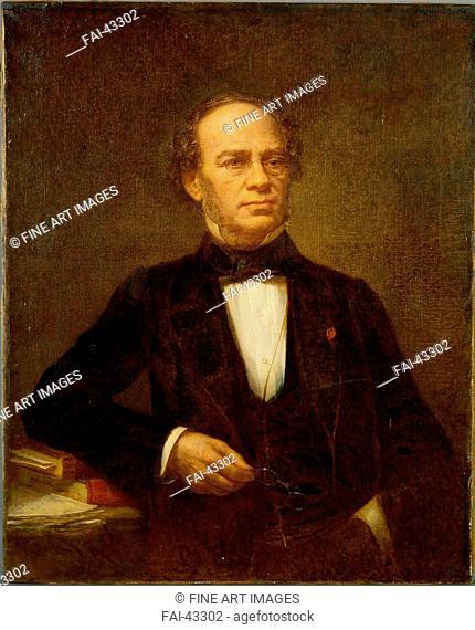 Portrait of the composer Jacques Fromental Halévy (1799-1862) by Roller, Jean (1798-1866)/Oil on canvas/Academic art/ca 1863/France/Philharmonie de...