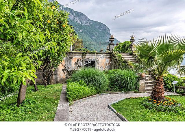 Family Grave at the Botanic Garden of Villa Monastero, Varenna, Lombardy, Italy