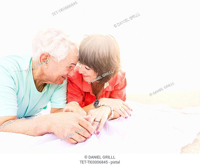 Couple spending time together on beach