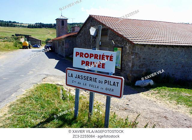 Farm, La Jasserie, Natural Park of Pilat, Loire, Rhone Alpes, France