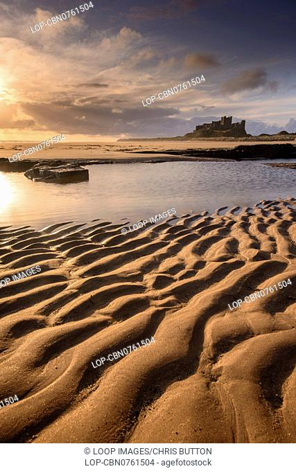 A view of Bamburgh Castle in Northumberland