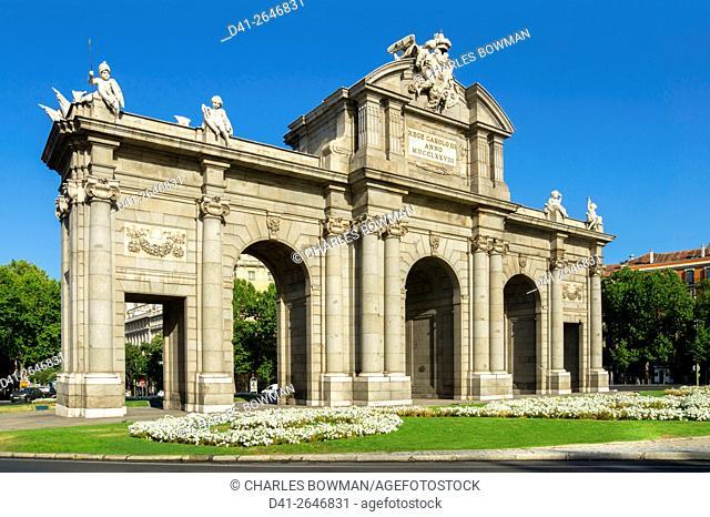 Europe, Spain, Madrid, Puerto de Alcala