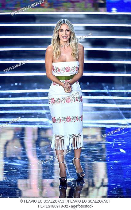 Tv presenter Diletta Leotta at the final of Miss Italia 2018, Milan, ITALY-17-09-2018