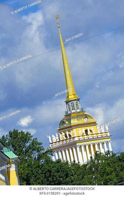 Admiralty Tower, Saint Petersburg, UNESCO World Heritage, Russia