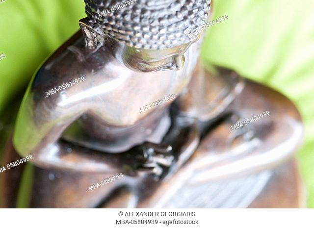 Buddha statue in the lotus poare sittingion from above