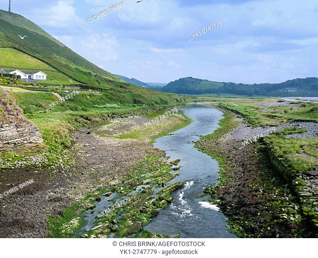 River Ystwyth in Aberystwyth Ceredigion Wales UK