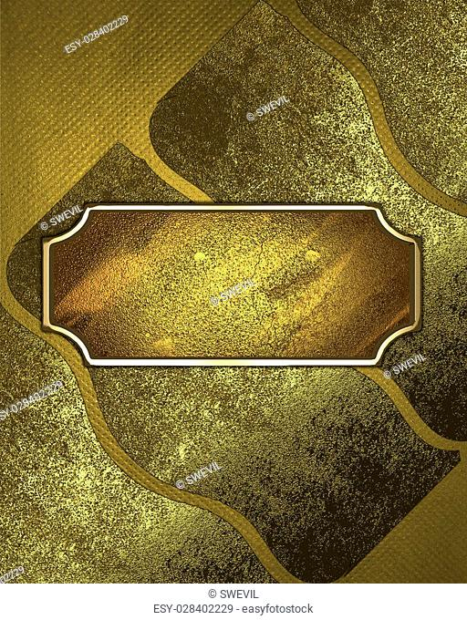 Abstract background of old gold plates. Design template