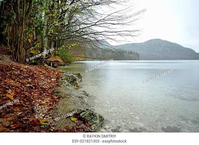 Lake near the Neuschwanstein castle in Germany
