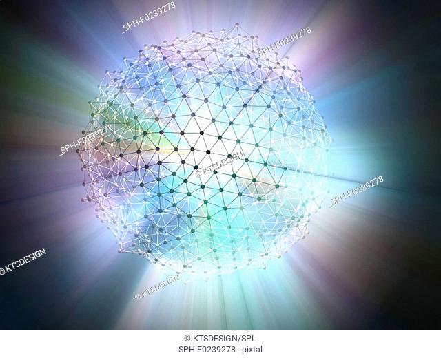 Network sphere, illustration