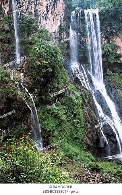 Waterfall, Maling River, Xingyi City, Guizhou Province of People's Republic of China