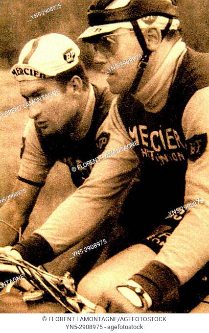Photo Raymond Poulidor et André Le Dissez, Tour de France, poster