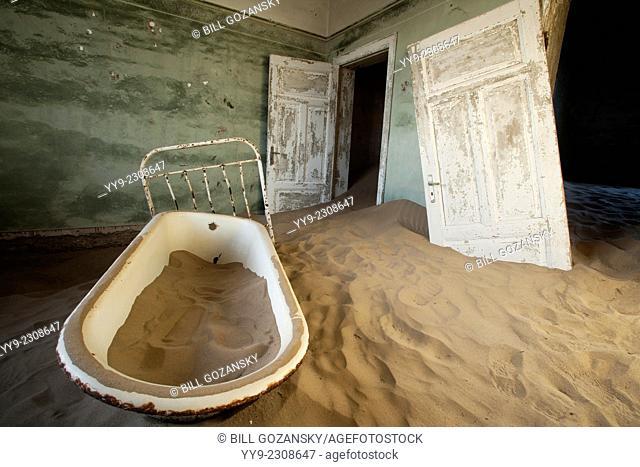 Bathtub in Kolmanskop Ghost Town - Luderitz, Namibia, Africa