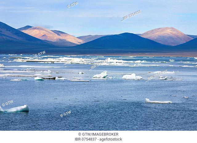 Ice floes off Wrangel Island, a UNESCO World Heritage Site, Wrangel Island, Far Eastern Federal District, Russia