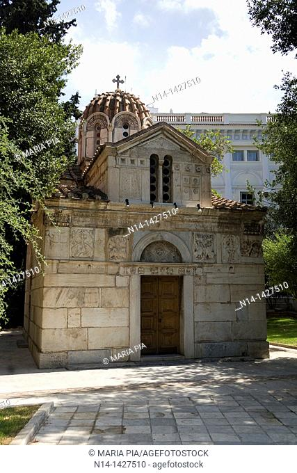Agios Eleftherios Church, the smallest church in the world, Athens, Greece