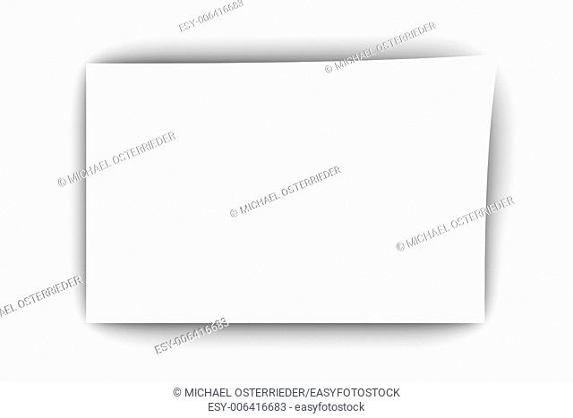 A blank piece of paper. 3D rendered Illustration