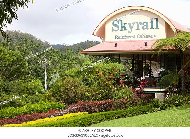 The Kuranda Skyrail terminal in Kuranda, Queensland, Australia