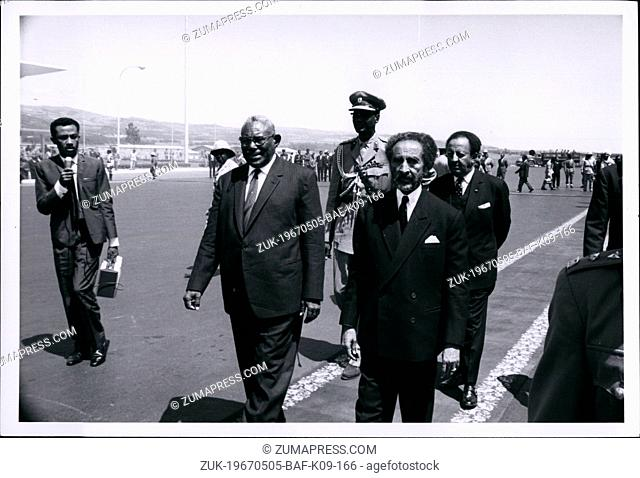 May 05, 1967 - Sudan Pres. Ismail El Azhary and Selassie. (Credit Image: © Keystone Press Agency/Keystone USA via ZUMAPRESS.com)